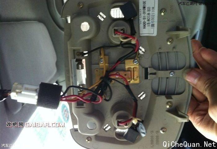 汽车加装水温表接线图